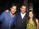 Bold and The Beautiful Ricky Paull Goldin (A/W, AMC, Y&R) and Gretta Monahan pose with Shane Farley executive producer of The Gossip Table at the Launch Party to celebrate our new VH1 morning show beginning June 3 - party was on May 30, 2013 at Catch Roof, New York City, New York. (Photo by Sue Coflin/Max Photos)