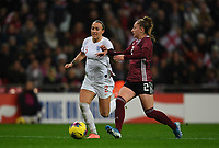9th November 2019; Wembley Stadium, London, England; International Womens Football Friendly, England women versus Germany women; Sophia Kleinherne of Germany competes for the ball with Lucy Bronze of England - Editorial Use