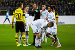 09.02.2019, Signal Iduna Park, Dortmund, GER, 1.FBL, Borussia Dortmund vs TSG 1899 Hoffenheim, DFL REGULATIONS PROHIBIT ANY USE OF PHOTOGRAPHS AS IMAGE SEQUENCES AND/OR QUASI-VIDEO<br /> <br /> im Bild | picture shows:<br /> Schiedsrichter | Referee Marco Fritz mit Maximilian Philipp (Borussia Dortmund #20) nach dessen Foul an Dennis Geiger (Hoffenheim #8),  <br /> <br /> Foto © nordphoto / Rauch