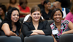 Scholarship winners Alma Rodriguez Celeste Tijernia, and Mykahla Williams at the 2011 Aldine Scholarship Foundation Scholarship Ceremony at Lone Star College - North Harris