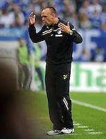 FUSSBALL   1. BUNDESLIGA   SAISON 2011/2012    11. SPIELTAG FC Schalke 04 - 1899 Hoffenheim                            29.10.2011 Trainer Holger STANISLAWSKI (Hoffenheim)