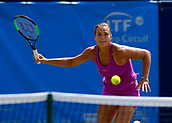 June 17th 2017, The Northern Lawn tennis Club, Manchester, England; ITF Womens tennis tournament; Number four seed Aryna Sabalenka (BLR) in action during her semi final singles match against number seven seed Aleksandra Krunic (SRB); Krunic won in straight sets