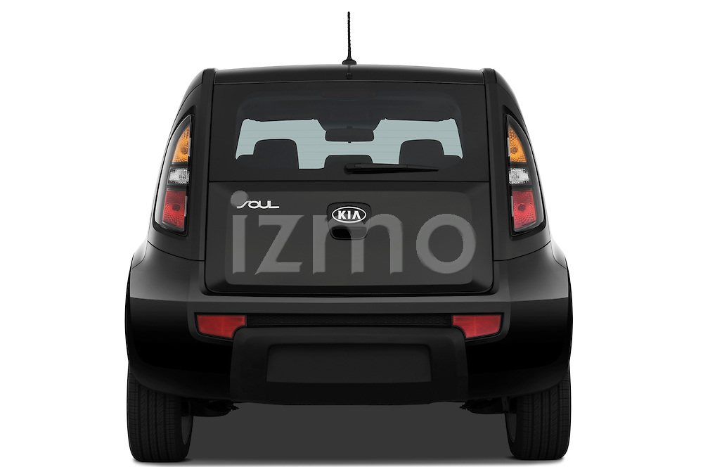 Straight rear view of a 2010 Kia Soul!
