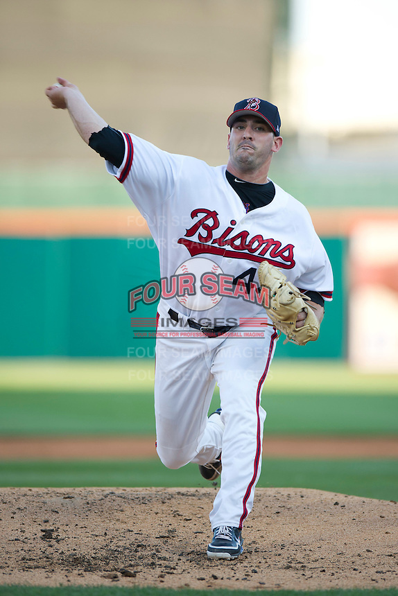 Buffalo Bisons pitcher Matt Harvey #43 delivers a pitch during the Triple-A All-Star Game Coca-Cola Field on July 11, 2012 in Buffalo, New York.  The Pacific Coast League defeated the International League 3-0.  (Mike Janes/Four Seam Images via AP Images)