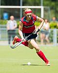 NIJMEGEN -   Grace Huberts (Huizen)  tijdens  de tweede play-off wedstrijd dames, Nijmegen-Huizen (1-4), voor promotie naar de hoofdklasse.. Huizen promoveert naar de hoofdklasse.  COPYRIGHT KOEN SUYK
