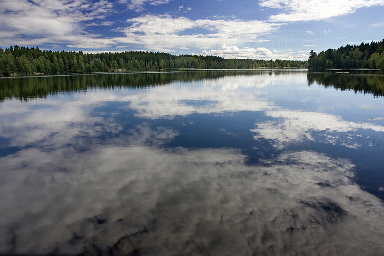 Idyllic images of Sognsvann lake, Oslo.