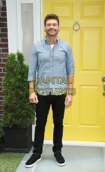 NEW YORK, NY - JULY 14: Ryan Seacrest attends Knock Knock Live Stunt at FOX Studios on July 14, 2015 in New York City. <br /> CAP/MPI/RW<br /> &copy;RW/MPI/Capital Pictures