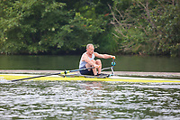Race: 10  MasD.1x  Quarter-Final<br /> 54  Quintin Boat Club (Almand)<br /> 56  Bideford Amateur Athletic Club (Peake)<br /> <br /> Henley Masters Regatta 2018 - Friday<br /> <br /> To purchase this photo, or to see pricing information for Prints and Downloads, click the blue 'Add to Cart' button at the top-right of the page.