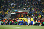20 JUN 2010: A large group of photographers squeeze into position to take the Brazil team photo before the game. The Brazil National Team defeated the C'ote d'Ivoire National Team 3-1 at Soccer City Stadium in Johannesburg, South Africa in a 2010 FIFA World Cup Group G match.