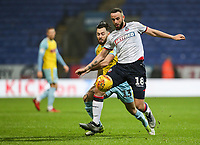 Bolton Wanderers' Marc Wilson competing with Rotherham United's Richie Towell<br /> <br /> Photographer Andrew Kearns/CameraSport<br /> <br /> The EFL Sky Bet Championship - Bolton Wanderers v Rotherham United - Wednesday 26th December 2018 - University of Bolton Stadium - Bolton<br /> <br /> World Copyright &copy; 2018 CameraSport. All rights reserved. 43 Linden Ave. Countesthorpe. Leicester. England. LE8 5PG - Tel: +44 (0) 116 277 4147 - admin@camerasport.com - www.camerasport.com