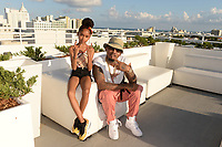 MIAMI BEACH, FL - OCTOBER 05: That Girl Lay Lay and Ball Greezy pose for a portrait during the Empire Records DJ party held at Skydeck on October 5, 2018 in Miami Beach, Florida. <br /> CAP/MPI04<br /> &copy;MPI04/Capital Pictures