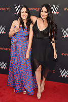 NORTH HOLLYWOOD, CA - JUNE 06: Brie Bella (L) and Nikki Bella attend WWE's first-ever Emmy 'For Your Consideration' event at Saban Media Center on June 6, 2018 in North Hollywood, California.<br /> CAP/ROT/TM<br /> &copy;TM/ROT/Capital Pictures