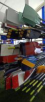 Henley, Great Britain. Oar Rack,  2007 Henley Royal Regatta,  Henley Reach, England 04/07/2007  [Mandatory credit Peter Spurrier/ Intersport Images]. Rowing Courses, Henley Reach, Henley, ENGLAND . HRR. ...........Rowing Courses, Henley Reach, Henley, ENGLAND. HRR