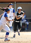 Western Nevada&rsquo;s Gabrielle Canibeyaz runs against the College of Southern Nevada in a game at Edmonds Sports Complex in Carson City, Nev., on Friday, April 1, 2016. <br />Photo by Cathleen Allison/Nevada Photo Source