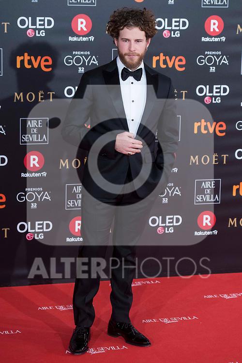 Alvaro Cervantes attends red carpet of Goya Cinema Awards 2018 at Madrid Marriott Auditorium in Madrid , Spain. February 03, 2018. (ALTERPHOTOS/Borja B.Hojas)