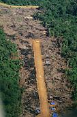 Amazon, Brazil. Illegal airstrip serving the Rangel garimpo, an illegal prospector gold mine.