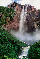 793050013 angel falls the tallest waterfall in the world at almost 3000 feet high flows down from the top of ayuan tepui in the lost world area of canaima national park in venezuela