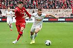 05.10.2019, BayArena, Leverkusen, GER, 1. FBL, Bayer 04 Leverkusen vs. RB Leipzig,<br />  <br /> DFL regulations prohibit any use of photographs as image sequences and/or quasi-video<br /> <br /> im Bild / picture shows: <br /> Kai Havertz (Leverkusen #29),  im Zweikampf gegen  Willi Orban (RB Leipzig #4),     <br /> <br /> Foto © nordphoto / Meuter