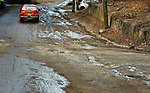WATERBURY , CT-011519JS08- Residents have complained about the build up of ice that occurs on Spring Brook Road in Waterbury. <br /> Jim Shannon Republican American