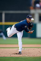 Lakeland Flying Tigers relief pitcher Bryan Garcia delivers a pitch during the first game of a doubleheader against the St. Lucie Mets on June 10, 2017 at Joker Marchant Stadium in Lakeland, Florida.  Lakeland defeated St. Lucie 6-5 in fourteen innings.  (Mike Janes/Four Seam Images)