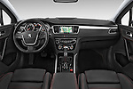 Stock photo of straight dashboard view of a 2015 Peugeot 508 GT 4 Door Sedan 2WD Dashboard