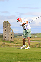 Kelan McDonagh (The Royal Dublin) on the 13th tee during Round 2 of The South of Ireland in Lahinch Golf Club on Sunday 27th July 2014.<br /> Picture:  Thos Caffrey / www.golffile.ie