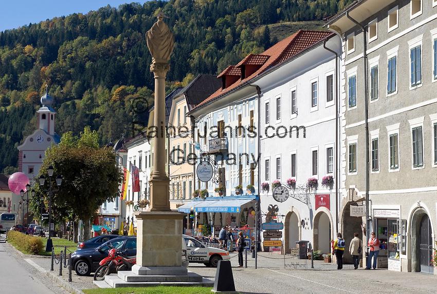 AUT, Oesterreich, Kaernten, Kuenstlerstadt Gmuend im Liesertal: Altstadt, Zentrum | AUT, Austria, Carinthia, artist town Gmuend at Lieser Valley: old town, centre