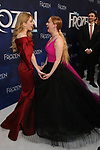 Caissie Levy and Patty Murin attends the Broadway Opening Night After Party for 'Frozen' at Terminal 5 on March 22, 2018 in New York City.