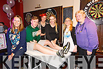 Fundraiser in memory of Ann Collins Leg Waxing Fundraiser in the Slieve Mish Bar on Friday in aid of Recovery Haven. Pictured   Kathleen Collins, Tommy Sheehy, Charlotte Higgins, Tara Griffin, Sarah Higgins, Geraldine Collins