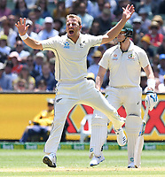 26th December 2019; Melbourne Cricket Ground, Melbourne, Victoria, Australia; International Test Cricket, Australia versus New Zealand, Test 2, Day 1; Neil Wagner of New Zealand appeals for a wicket - Editorial Use