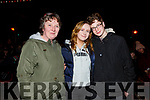 Hannah and Catherine Cronin (Castleisland) and Donnacha Nolan (Listowel) at the firework display in Denny St on New Years Eve.