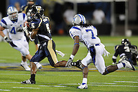 11 October 2008:  FIU wide receiver Jeremy Dickens (5) runs for extra yardage after a reception while being pursued by Middle Tennessee State cornerback Alex Suber (7) in the FIU 31-21 victory over Middle Tennessee at FIU Stadium in Miami, Florida.