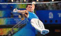 Igor Cassina durante l'esercizio alla sbarra in cui e' arrivato quarto..National Indoor Stadium.Pechino - Beijing 19/8/2008 Olimpiadi 2008 Olympic Games.Foto Andrea Staccioli Insidefoto