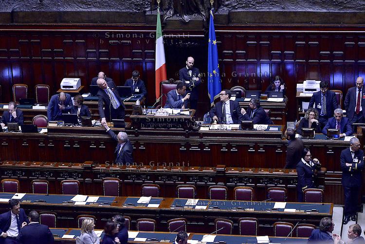 Roma, 30 Aprile 2015<br /> Le operazioni di voto, Luigi Di Maio presiede l'Assemblea<br /> Votata le seconda fiducia alla Legge elettorale