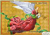 Ingrid, HOLY FAMILIES, HEILIGE FAMILIE, SAGRADA FAMÍLIA, paintings+++++,USISGAI14C,#XR# angels ,vintage