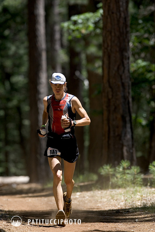 Scott Jurek at Deadwood. Western States 100 Mile Race. Squaw Valley to Auburn, CA