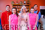 All action before the dress rehearsal at the Cinderella Christmas Panto, l-r, Alan Teahan (Buttons), Ciara Kerins, Laura Lee Curtain (Fairy Godmother), Keelen Enright and Gary Murphy (Prince Charming).