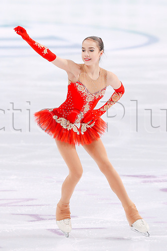 09.12.2016. Palais Omnisports, Marseille, France. ISU Junior Figure Skating Grand Prix Final.  Alina Zagitova (RUS) competes in the Women's Free Program.