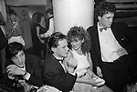 Wedgies Night Club in the Kings Road Chelsea London 1982.<br /> Front Row L-R Surname? Guy Thomas with Sophie Molins, Scott Richings.<br /> Back Row L-R Surname? young woman with Nick Markwell.<br /> <br /> Names thanks to Scott Richings.