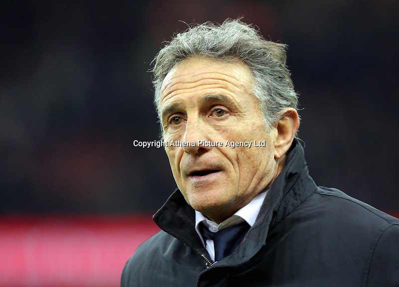 France head coach Guy Noves before the Wales v France, 2016 RBS 6 Nations Championship, at the Principality Stadium, Cardiff, Wales, UK