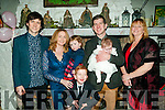 Baby Elyse, daughter of Gemma & Padraigh Mulvihill, Listowel who was christened in St. Mary's Church, Listowel by Canon Declan O'Connor on Wednesday 28th December last and afterwards at McCarhy's Bar, Finuge. L-R: Kieran Mulvihill, Gemma, Hazel, Andrew, Padraigh & Elyse Mulvihill & Marie Barrett.