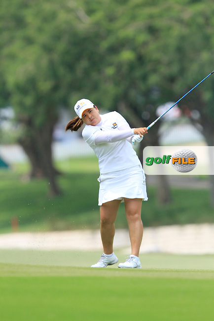 Inbee Park (KOR) on the 18th fairway during Round 4 of the HSBC Women's Champions at the Sentosa Golf Club, The Serapong Course in Singapore on Sunday 8th March 2015.<br /> Picture:  Thos Caffrey / www.golffile.ie