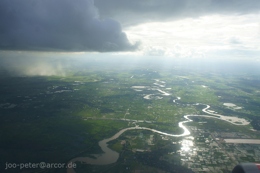 rain clouds over Cambodia in monsun time, August 2011