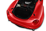 Car Stock 2016 Alfaromeo 4C - 2 Door Convertible Engine  high angle detail view