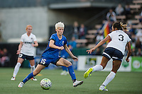 Seattle, WA - Sunday, September 11 2016: Seattle Reign FC forward Megan Rapinoe (15) looks for a pass during a regular season National Women's Soccer League (NWSL) match between the Seattle Reign FC and the Washington Spirit at Memorial Stadium. Seattle won 2-0.