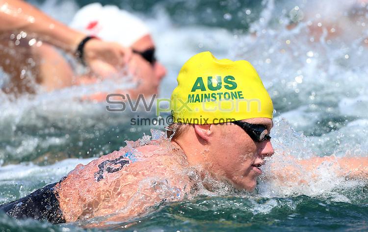 PICTURE BY VAUGHN RIDLEY/SWPIX.COM - Open Water - 15th FINA World Championships 2013 - Moll de la Fusta, Barcelona, Spain - 20/07/13 - Australia's Rhys Mainstone-Hodson competes in the Men's 10km.