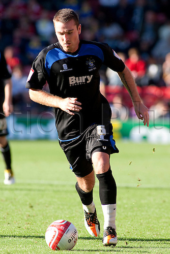 15.10.2011, London, England. Peter Sweeney Bury's midfielder  in action during the NPower league one football match between Leyton Orient and Bury played at the Matchroom Stadium, Brisbane Road, London. Mandatory credit: ActionPlus