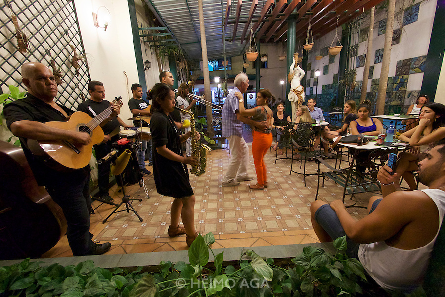 Havana, Cuba. La Habana Vieja (Old Habana). Live music at a dance bar.