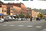Main street in historic downtown Red Wing Minnesota USA