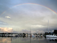 Rainbow Over Wickford Harbor